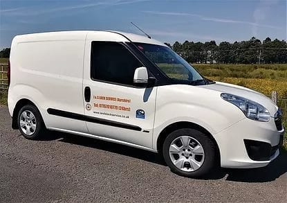 Locksmith Ardrossan Liveried van Showing emergency Locksmith in Ardrossan Service