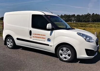 Locksmith Ayrshire Liveried van Showing emergency Locksmith in Ayrshire Service