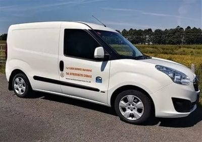 Locksmith Largs Liveried van Showing emergency Locksmith in Largs Service